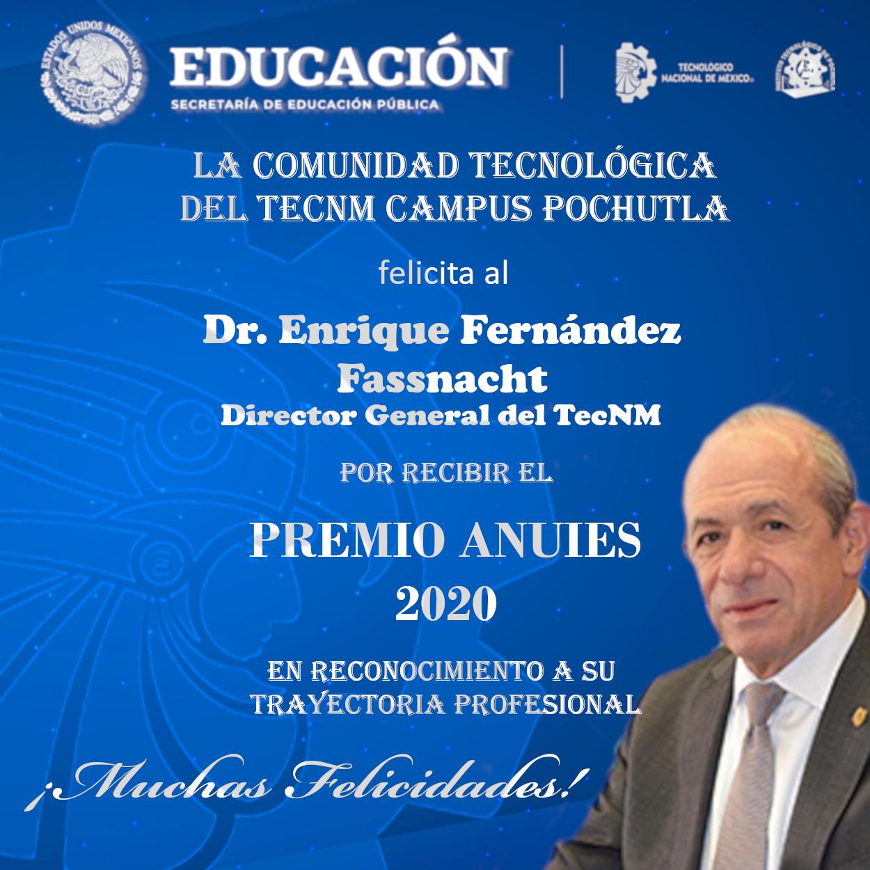 Felicitaciones al Dr. Enrique Fernández Fassnacht